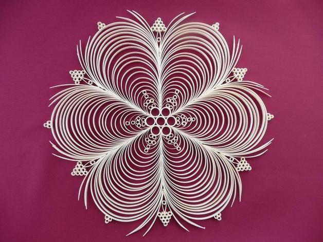 filigranes Fensterbild Blume (1) aus Span
