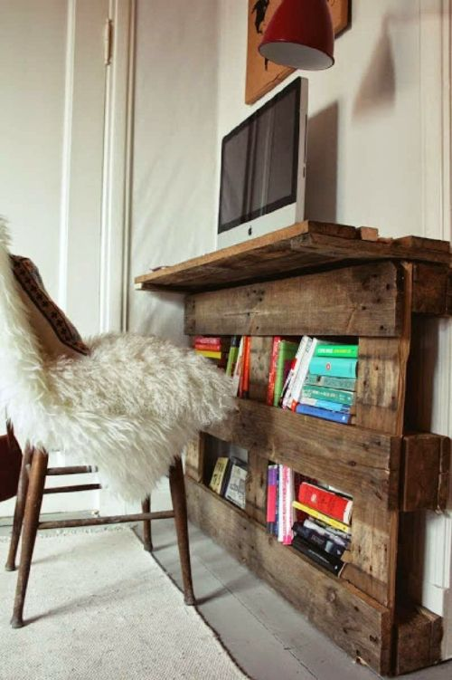 schreibtisch selber bauen home office diy ideen europalette holzpalette