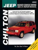 Click Image Above To Buy: Jeep Wagoneer, Comanche & Cherokee Chilton Manual (1984-1998)