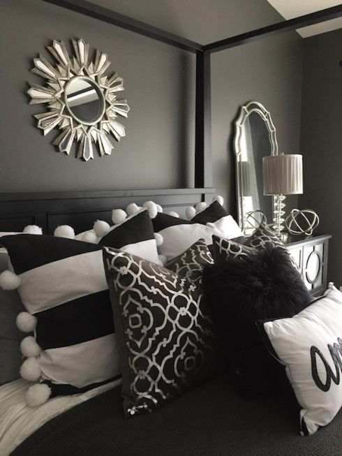 Texture galore from Home Goods! Pillows, mirrors, and lamp from Home Goods. {Sponsored}