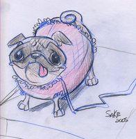 Cartoon Pug | pug-cartoon by ~AmySake on deviantART