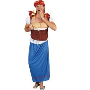 Tyrolerkjole til mænd. Sjov og anderledes tyrolerkjole der nok skal få sat gang i festen. Køb den i Partybutikken. #oktoberfest #tyrolerfest #kostumer