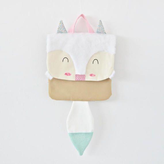 Little Arctic Fox backpack,kids backpack,vegan bag,animal backpack,babies gift,canvas bag,kids mam bags,toddler backpack,RABBITbag,for kids