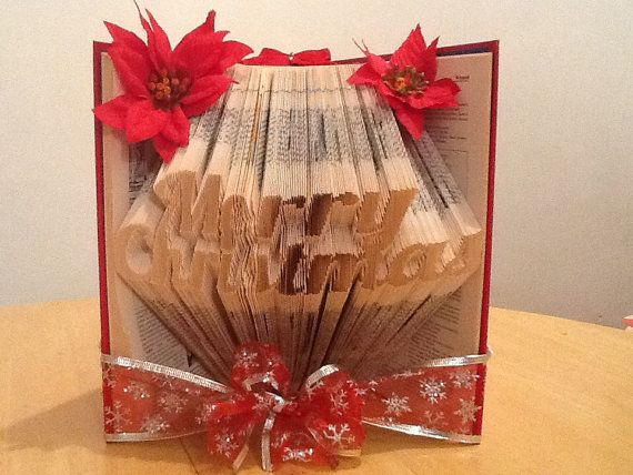 Book Folding Pattern for Merry Christmas by BookFoldingForever