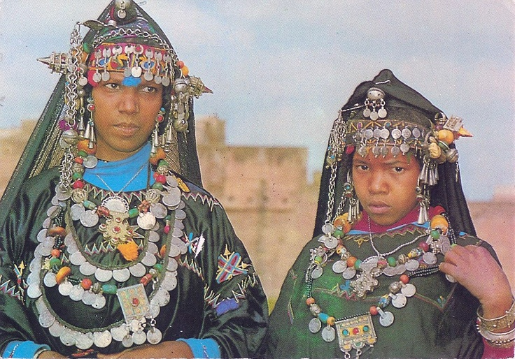 *|*  Typical Morocco, Girls from the South.  This is a postcard image, which unfortunately was not dated only number as 614.