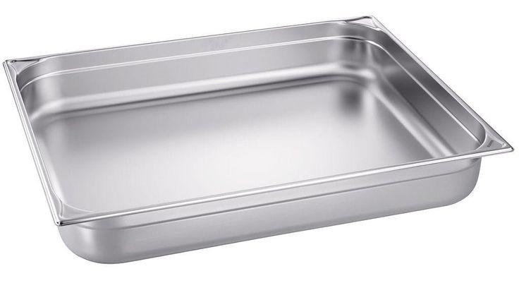 GTARDO.DE:  Edelstahl GN-Behälter 1/2 GN, bis 280°C, BxTxH 325x265x40 mm, 2.3 Ltr., GN 1/2-40 20,00 €