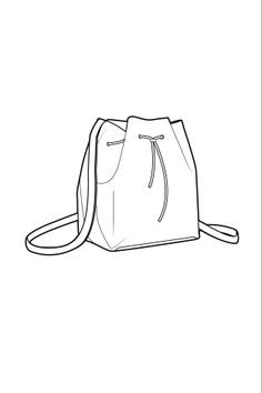 technical drawing bucket bag - Google Search
