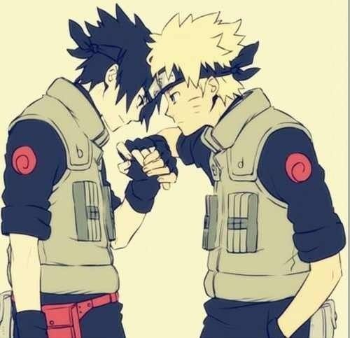 Sasuke and Naruto.  Check out my Naruto fanfiction story The Man That Disappeared: https://www.fanfiction.net/s/9928492/1/The-Man-That-Disappeared