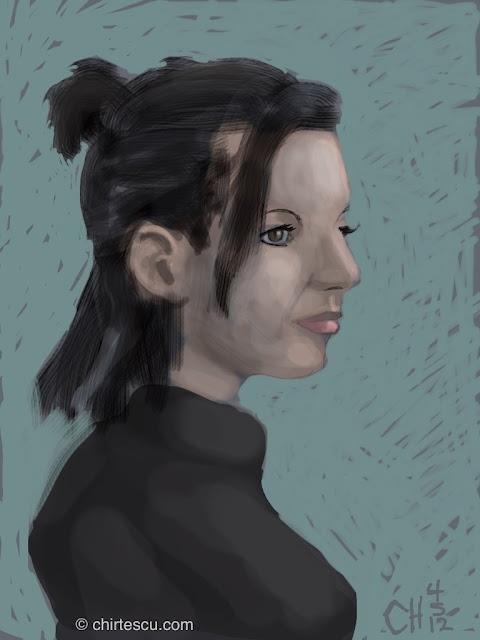 """Anastasia"". Digital Sketch on iPad. Christine Hirtescu c.2012 www.chirtescu.com"