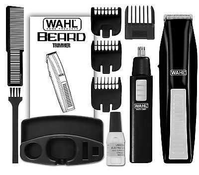 Wahl Cordless Battery Operated Beard Trimmer Ear Nose Clippers Shave Hair Beaut