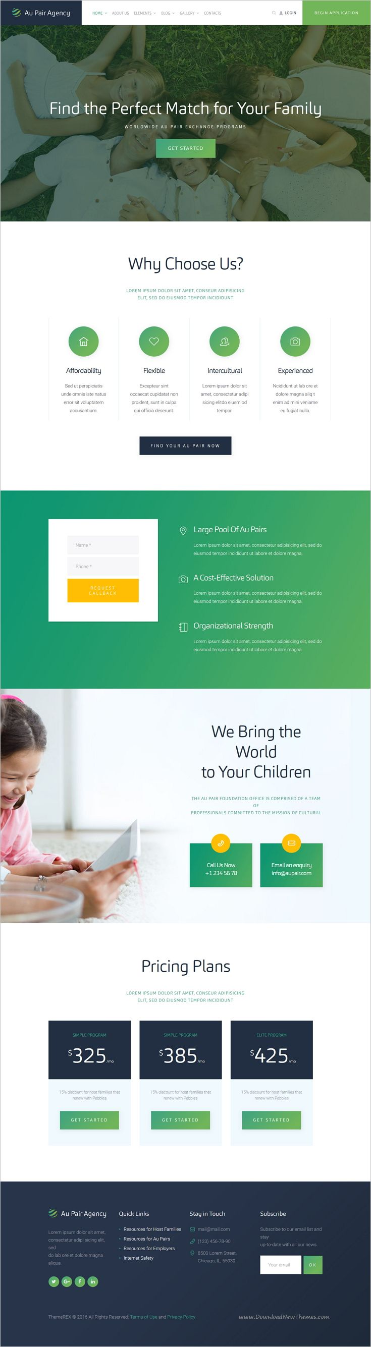 Au-Pair is a wonderful responsive #WordPress theme for #babysitting and #nanny agency website download now➩  https://themeforest.net/item/aupair-babysitting-nanny-agency-theme/16883968?ref=Datasata