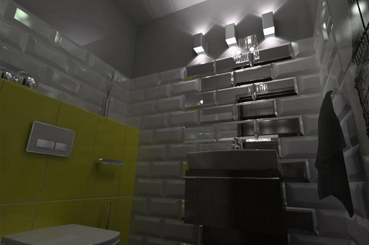 #toaleta #bathroom wg 3esdesign.pl