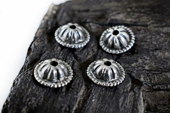 Antiqued Silver Bead Caps 13x5mm Bali Style Metal Bead Caps
