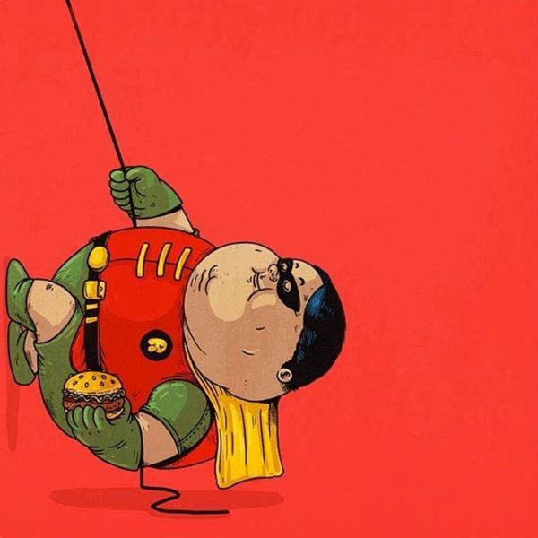 Fat Pop Culture – 26 obese illustrations by Alex Solis.