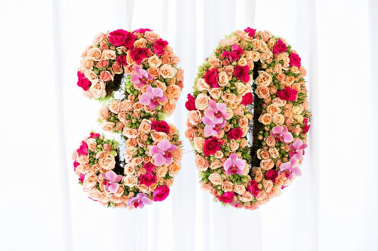 30th birthday ideas. Click on the photo to see my pink themed soirée.   #florals #thirty #lesfleurs #birthday #party #texas #florist #birthdayparty