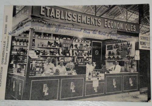 carte-postale-VIEUX-METIERS-ETABLISSEMENTS-ECONOMIQUES-exposition-REIMS-an-1933
