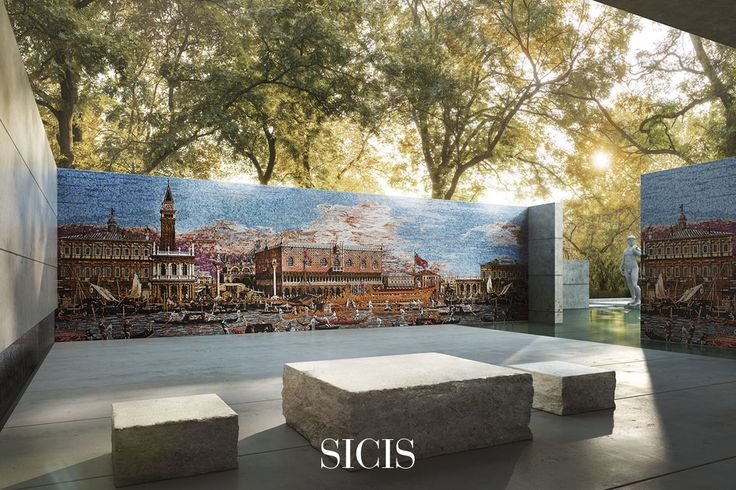 Our master mosaicists recreated Canaletto's artwork accurately. a unique detailed panel in mosaic, so magnificent as only fresco can be.