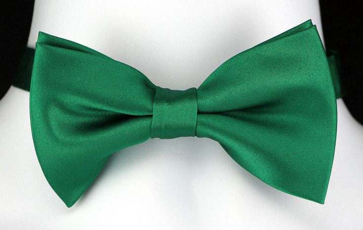 New St Patricks Day Green Mens Bow Tie Adjustable Tuxedo Wedding Fashion Bowtie #TiesJustForYou #BowTie
