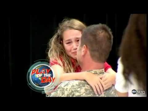▶ Soldier Surprises Daughter at Spelling Bee: Emotional Reunion Caught on Tape - YouTube
