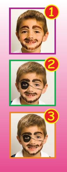 Pirate face painting idea.
