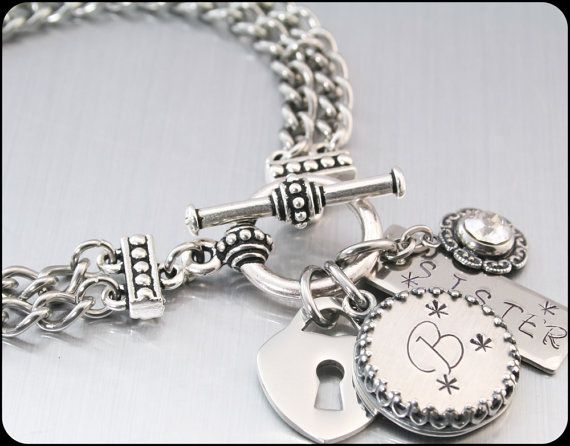 Customized Initial Jewelry Monogrammed Gifts by BlackberryDesigns, $48.00