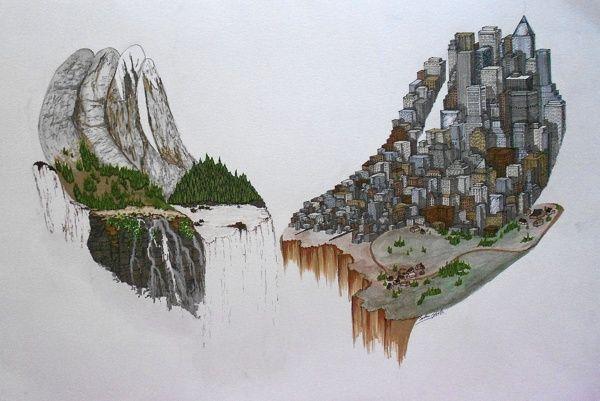 man vs nature art - Google Search