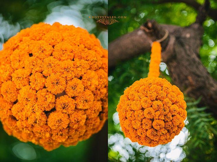garden engagement decor yellow orange marigolds - Google Search