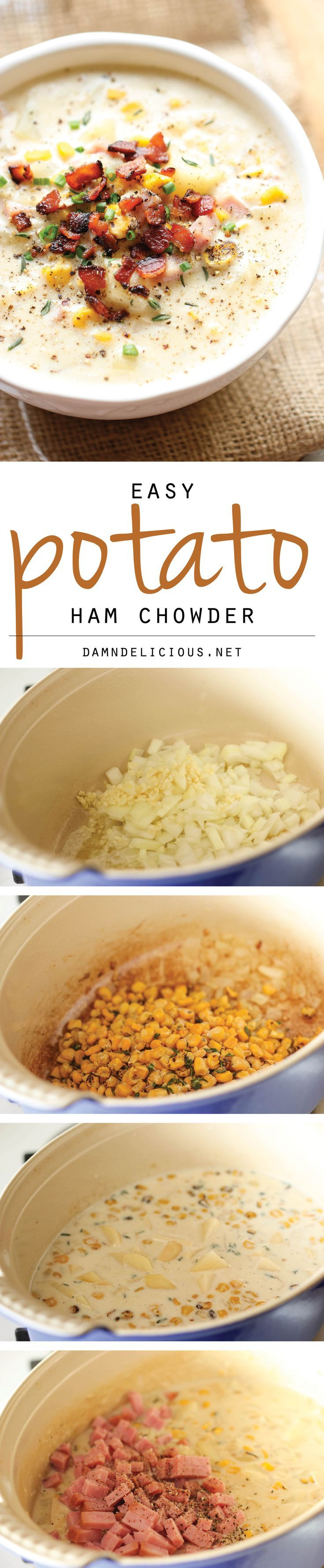 Potato Ham Chowder | Chowders, Hams and Potatoes