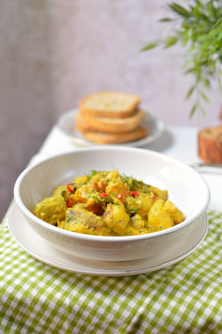 receta vegana, garbanzos al curry