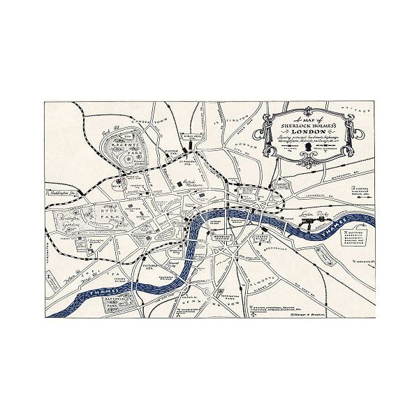 MAP - LONDON OF SHERLOCK HOLMES ❤ liked on Polyvore featuring sherlock, backgrounds, fillers, image and londres