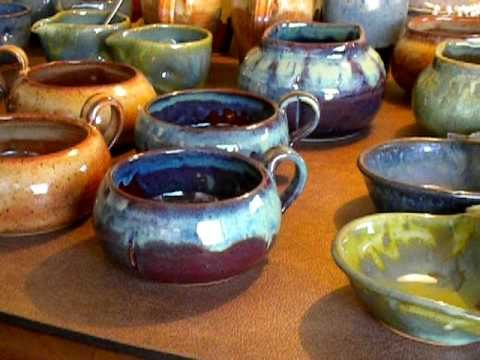 Different glazes alone and over/under other glazes to show affects.