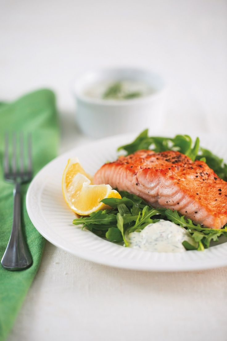 Baked Salmon with Mustard-Dill Sauce ‹ Hello Healthy