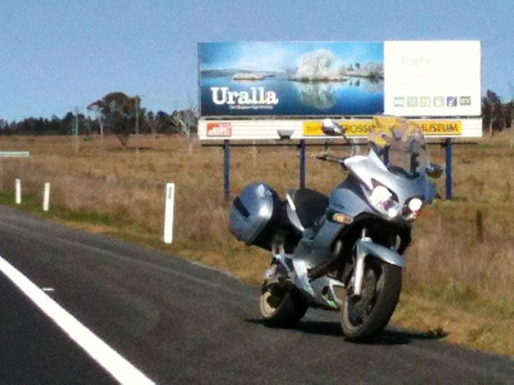 Look! My photo of Dangar's Lagoon is on the Uralla Billboard!