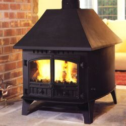 Hunter Herald 14 Double Sided/Single Depth Wood Burning Stove
