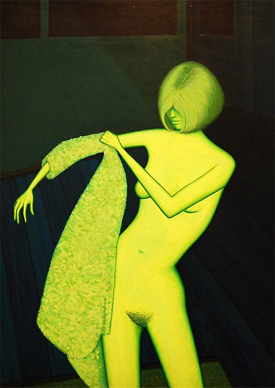 Nude with dressing gown 1967 John Brack
