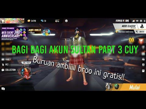 Bagi Bagi Akun Sultan Free Fire Gratis 2020 Part 3 Youtube Di 2020 Youtube Indonesia