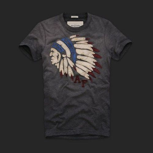 Abercrombie And Fitch Mens Tees Gray