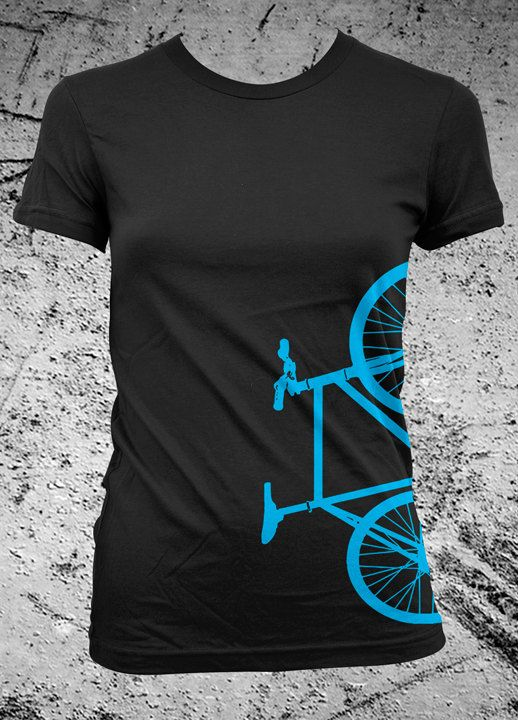 Fixed Gear Bicycle Fixie Bike Shirt Female by iheartanalogue, $21.00