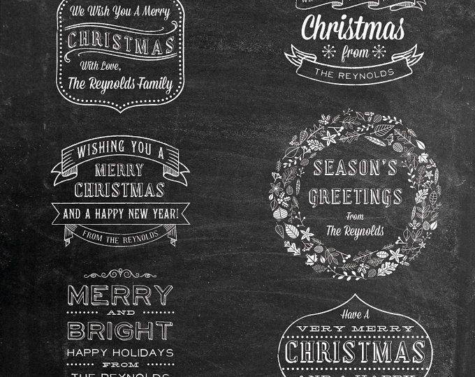 Photoshop-Overlay Clipart - Kreide Cliparts - Weihnachten Clipart - Photoshop Overlay - Bild überlagern - rustikale Cliparts - ClipArt-Grafiken