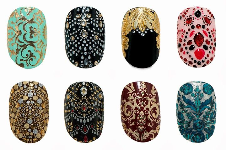 Designer collaboration alert! Nail art for the lazy: nail wraps from Revlon by Marchesa.