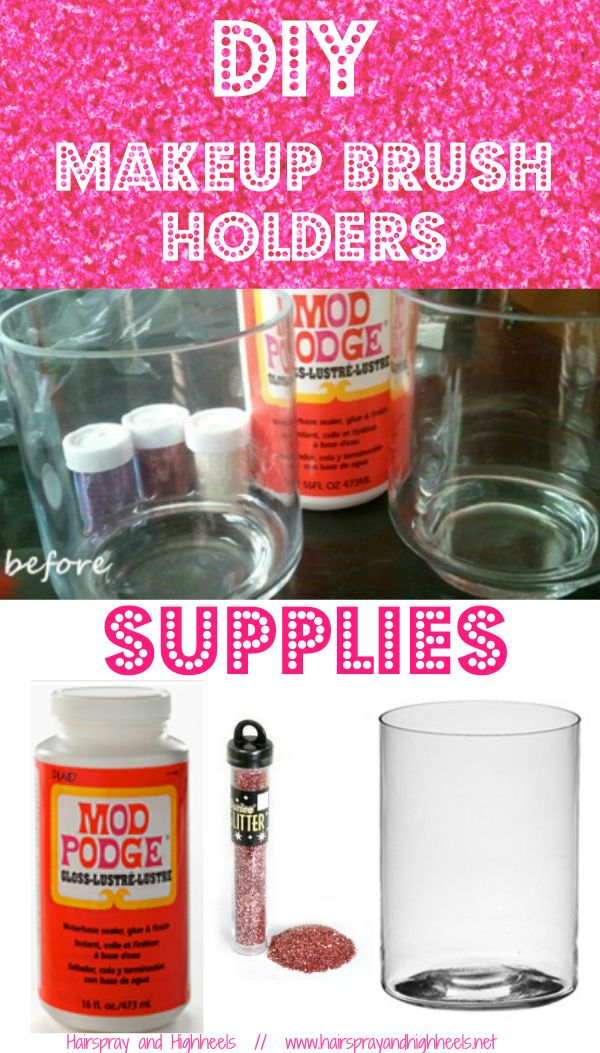 DIY: Makeup Brush Holders  via @Hairspray and HighHeels