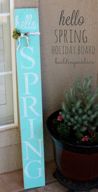Building Our Hive: Hello Spring--decorative holiday board
