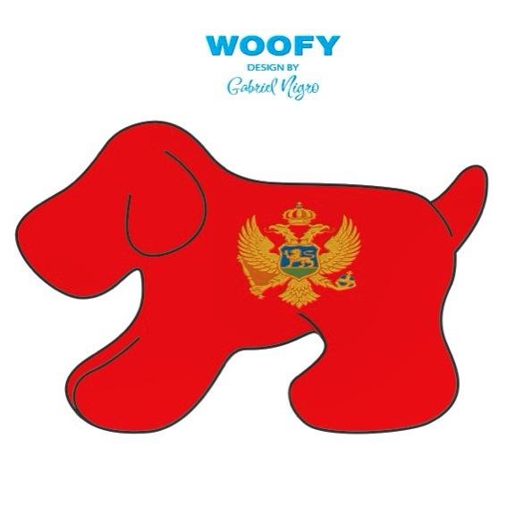 """Woofy """"montenegro"""" """"Crna Gora"""" Design by Gabriel Nigro."""
