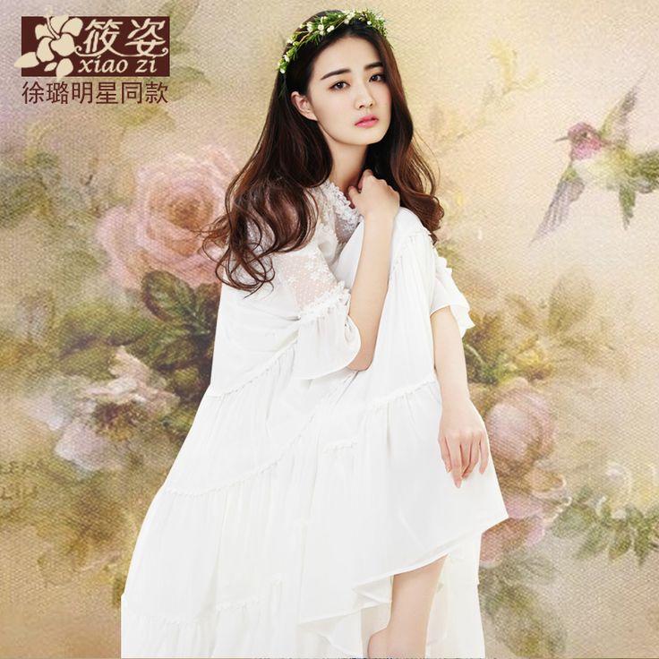 Xiaozi Mu Lin 2015 de primăvară furtune lemn rochie ureche trompeta si rochie sifon lung mare fusta leagăn