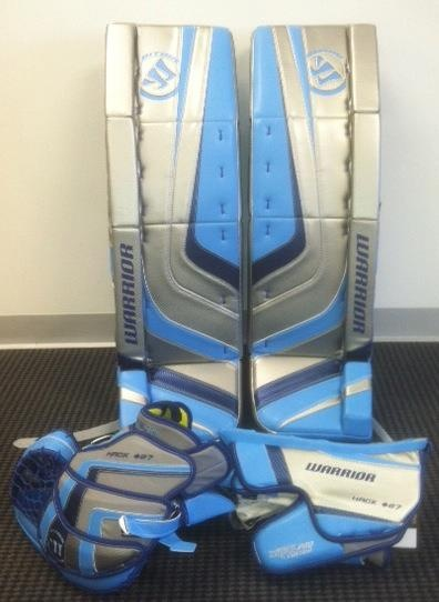 Custom set of Warriors... order yours at http://goalie.totalhockey.com/default.aspx