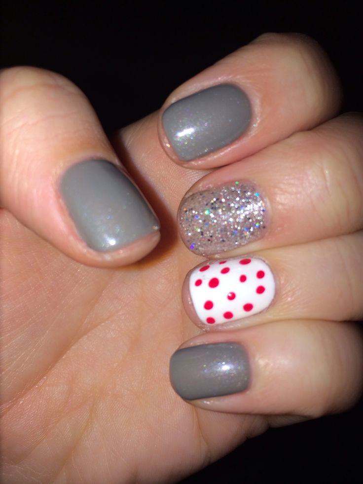 Winter fun gel nails | Fun nails | Pinterest