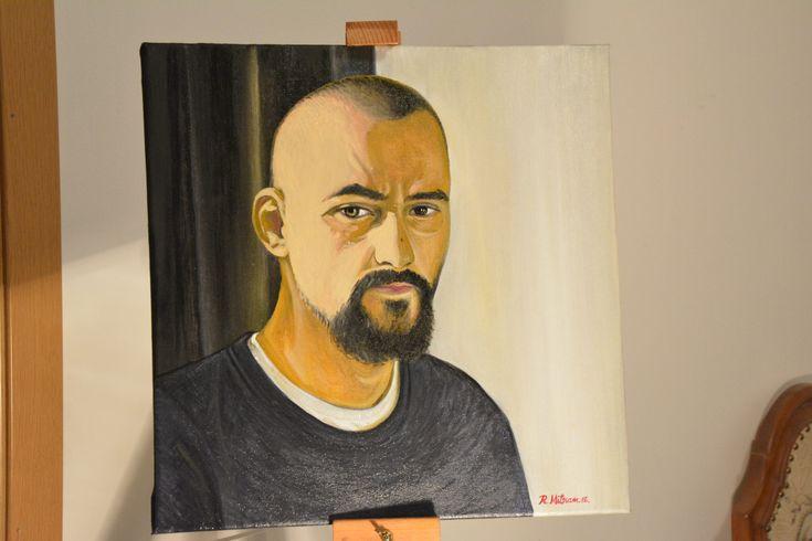 https://flic.kr/p/22Ax3AL | Self-portrait | autoportret - ulei pe panza 40x40