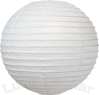 White Extra Large Round Paper Lanterns 42 inch