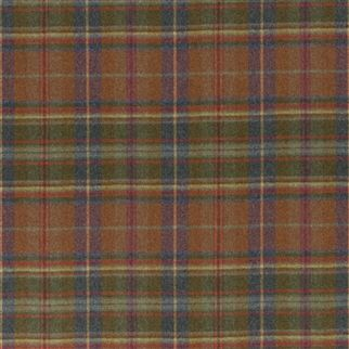 Thirlestone is a strikingly modern wool tartan, with the plaid created from a refreshing colour palette. Perfect for warm and cosy country interiors #fabric #country #interiordesign