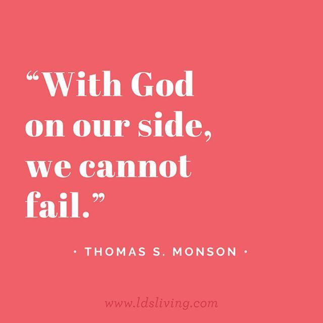 We are so grateful for President Monson.